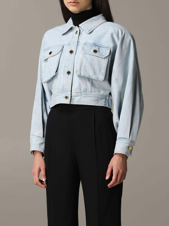 Giacca di jeans Alberta Ferretti cropped blue 3