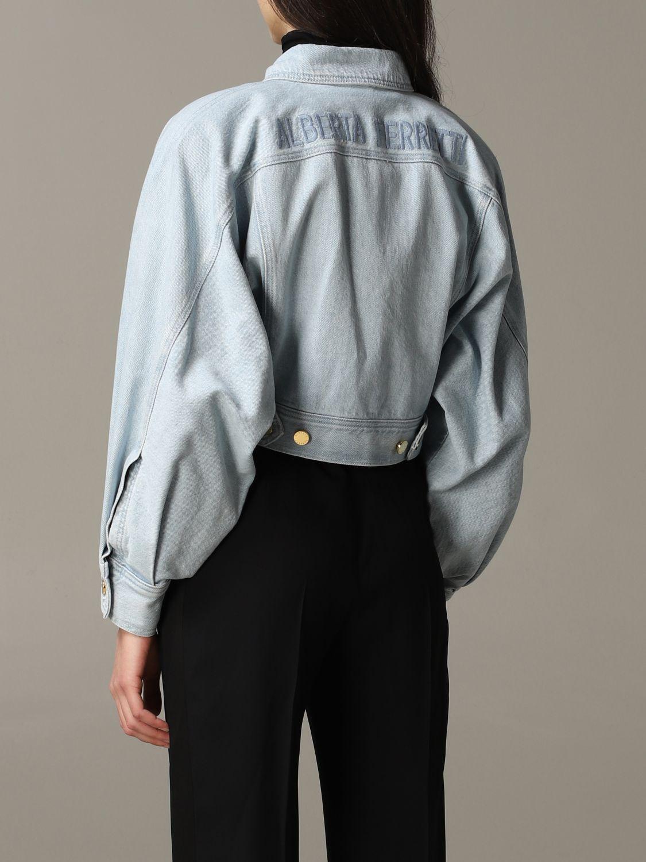 Giacca di jeans Alberta Ferretti cropped blue 4