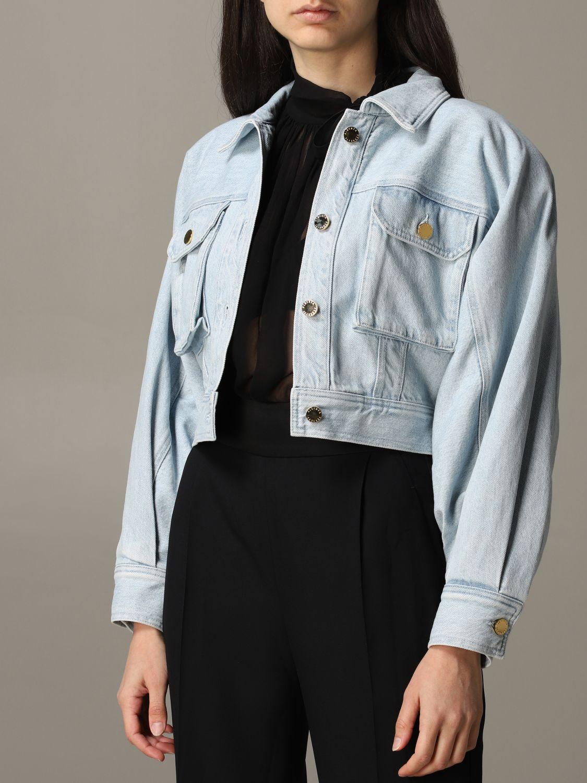 Giacca di jeans Alberta Ferretti cropped blue 5