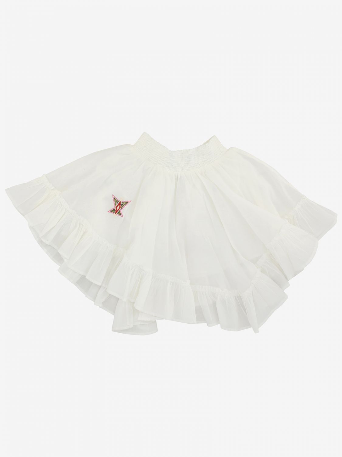 Zadig & Voltaire skirt with embroidery white 2