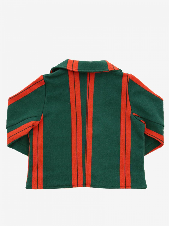 Mini Rodini striped jacket green 2