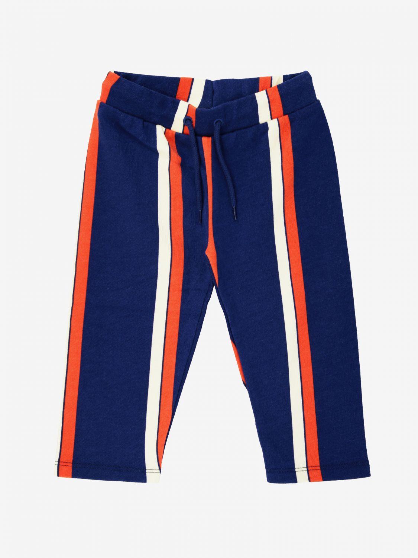 Pantalon Mini Rodini rayé bicolore bleu 1