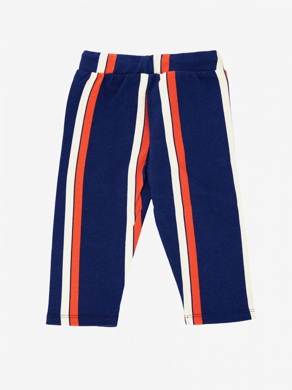 Pantalon Mini Rodini rayé bicolore bleu 2