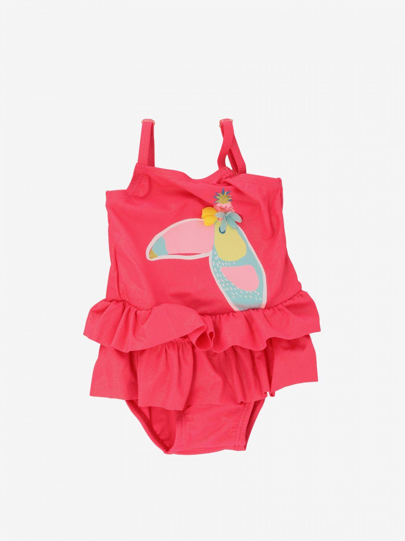 泳装 Billieblush: Billieblush 印花连体泳装 草莓红 1