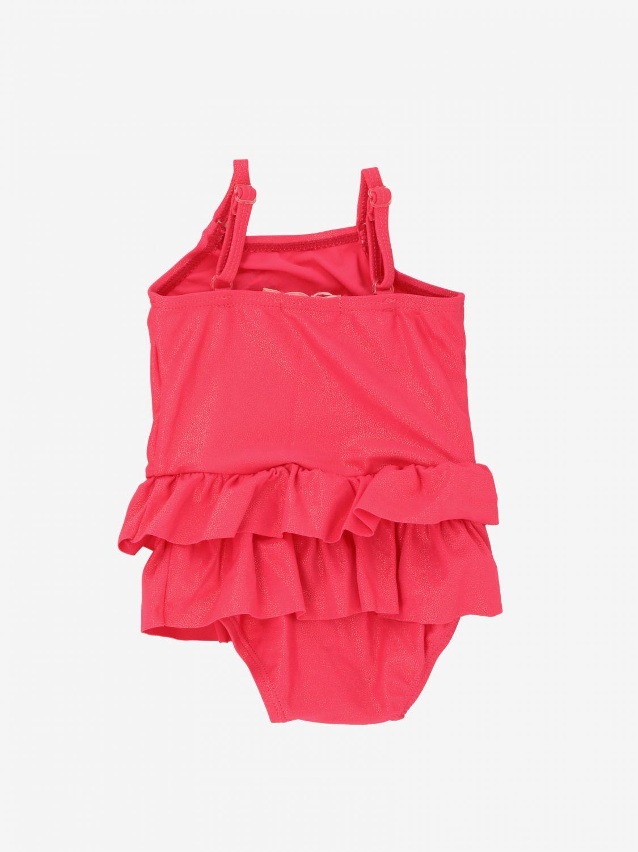 泳装 Billieblush: Billieblush 印花连体泳装 草莓红 2