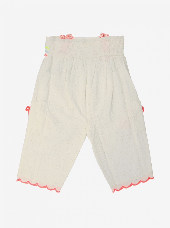 Pantalone Billieblush: Pantalone Billieblush con bordi a onde in tessuto Sangallo bianco 2
