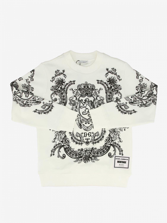 Maglia Dolce & Gabbana: Felpa Dolce & Gabbana stampata panna 1