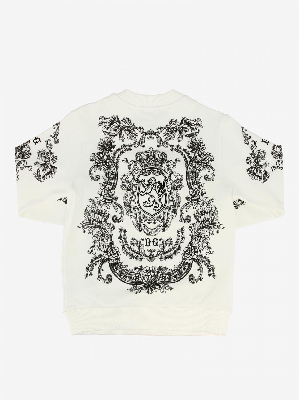 Maglia Dolce & Gabbana: Felpa Dolce & Gabbana stampata panna 2