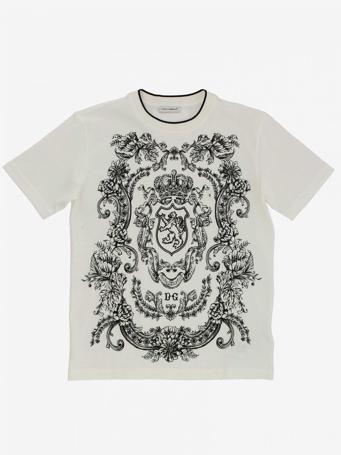 T-shirt Dolce & Gabbana: T-shirt kids Dolce & Gabbana yellow cream 1
