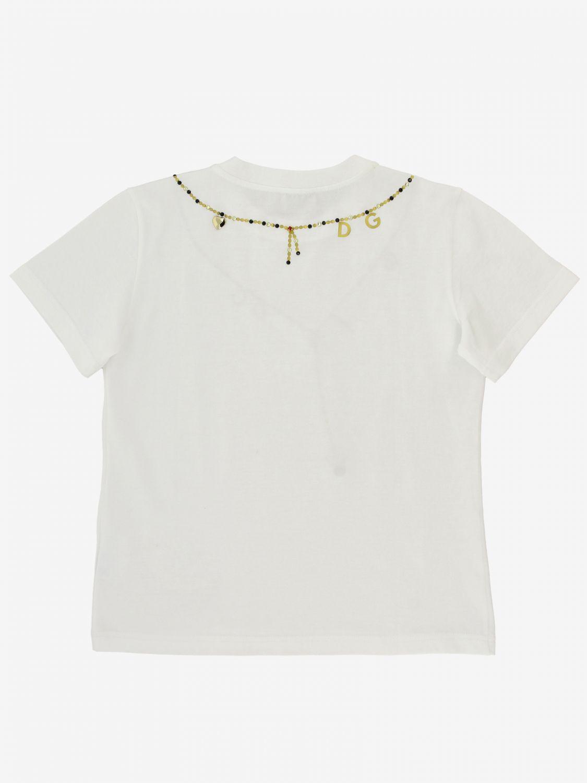 T-shirt Dolce & Gabbana: T-shirt Dolce & Gabbana con stampa collana bianco 2