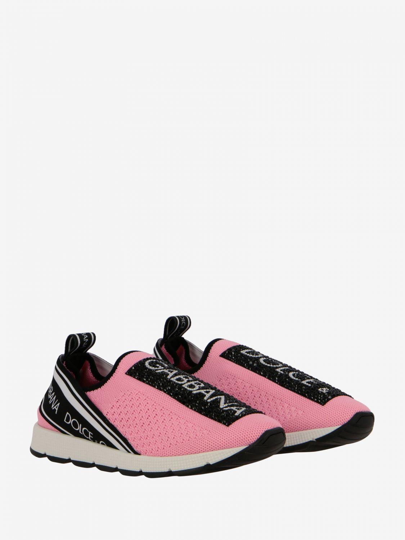 Scarpe Dolce & Gabbana: Sneakers Dolce & Gabbana slip on in mesh con logo nero 2