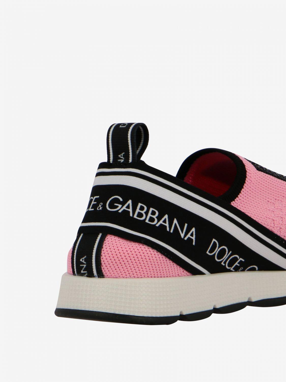 Scarpe Dolce & Gabbana: Sneakers Dolce & Gabbana slip on in mesh con logo nero 5