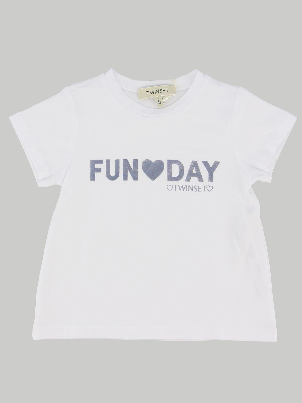 T-shirt enfant Twin Set blanc 1