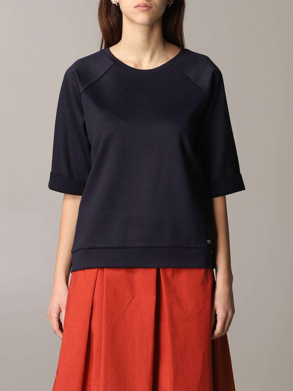 Fay sweatshirt with wide sleeves navy 1