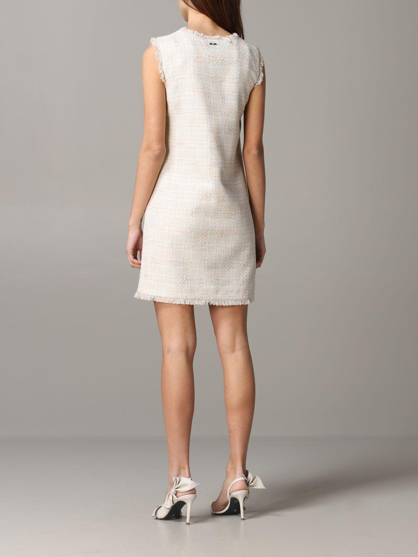 Liu Jo 口袋装饰经典连衣裙 米色 2