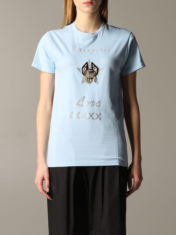 T-shirt 5 Progress: T-shirt 5 Progress a maniche corte con crest azzurro 1