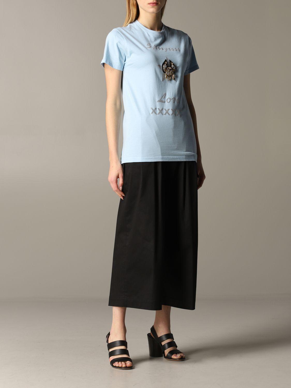 T-shirt 5 Progress: T-shirt 5 Progress a maniche corte con crest azzurro 2