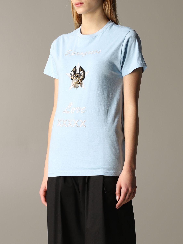 T-shirt 5 Progress: T-shirt 5 Progress a maniche corte con crest azzurro 4