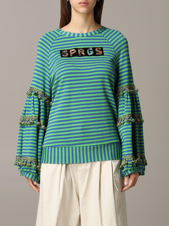 Sweatshirt 5 Progress: Sweatshirt women 5 Progress green 1