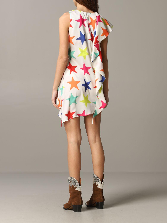 Dress 5 Progress: 5 Progress dress with multicolor stars white 2