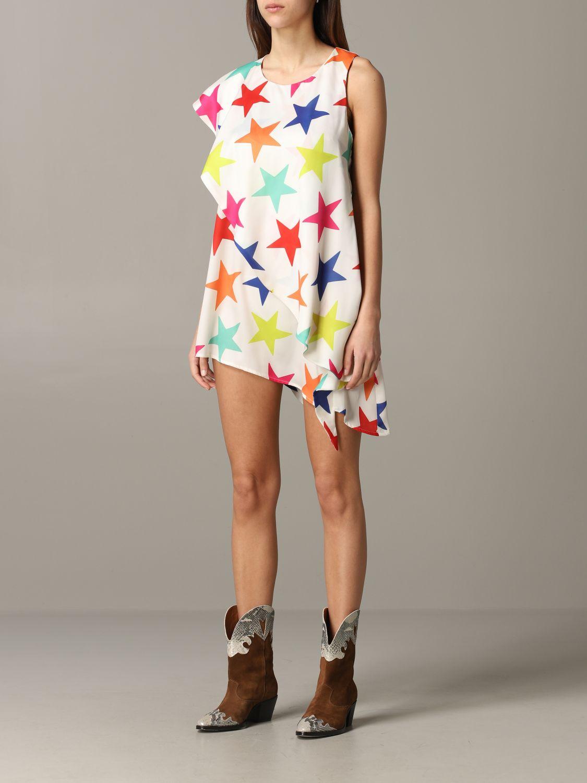Dress 5 Progress: 5 Progress dress with multicolor stars white 3