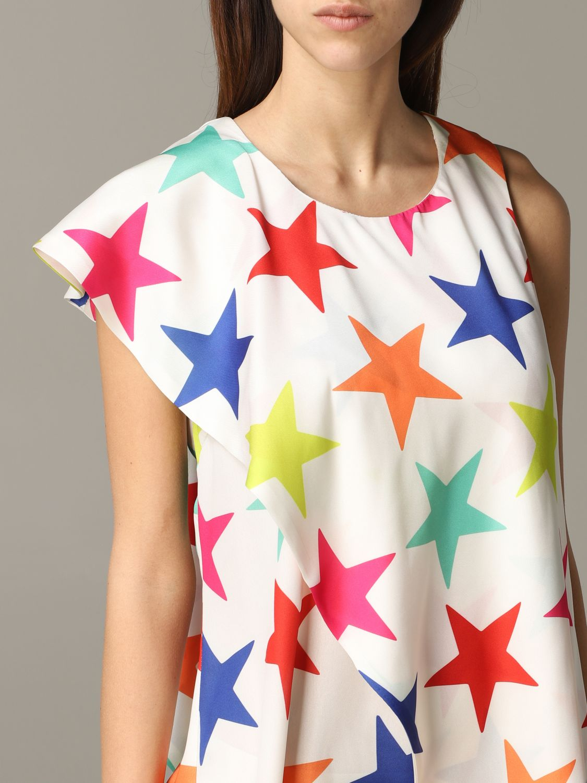 Dress 5 Progress: 5 Progress dress with multicolor stars white 4