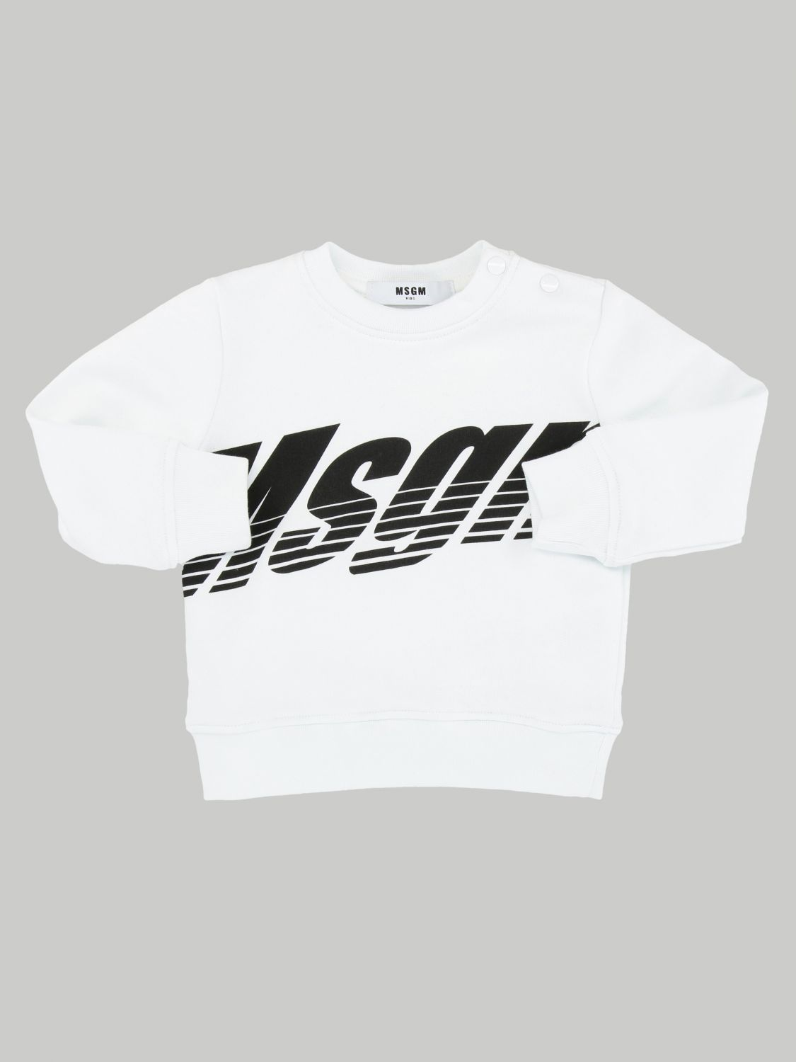 Msgm Kids sweatshirt with logo print white 1