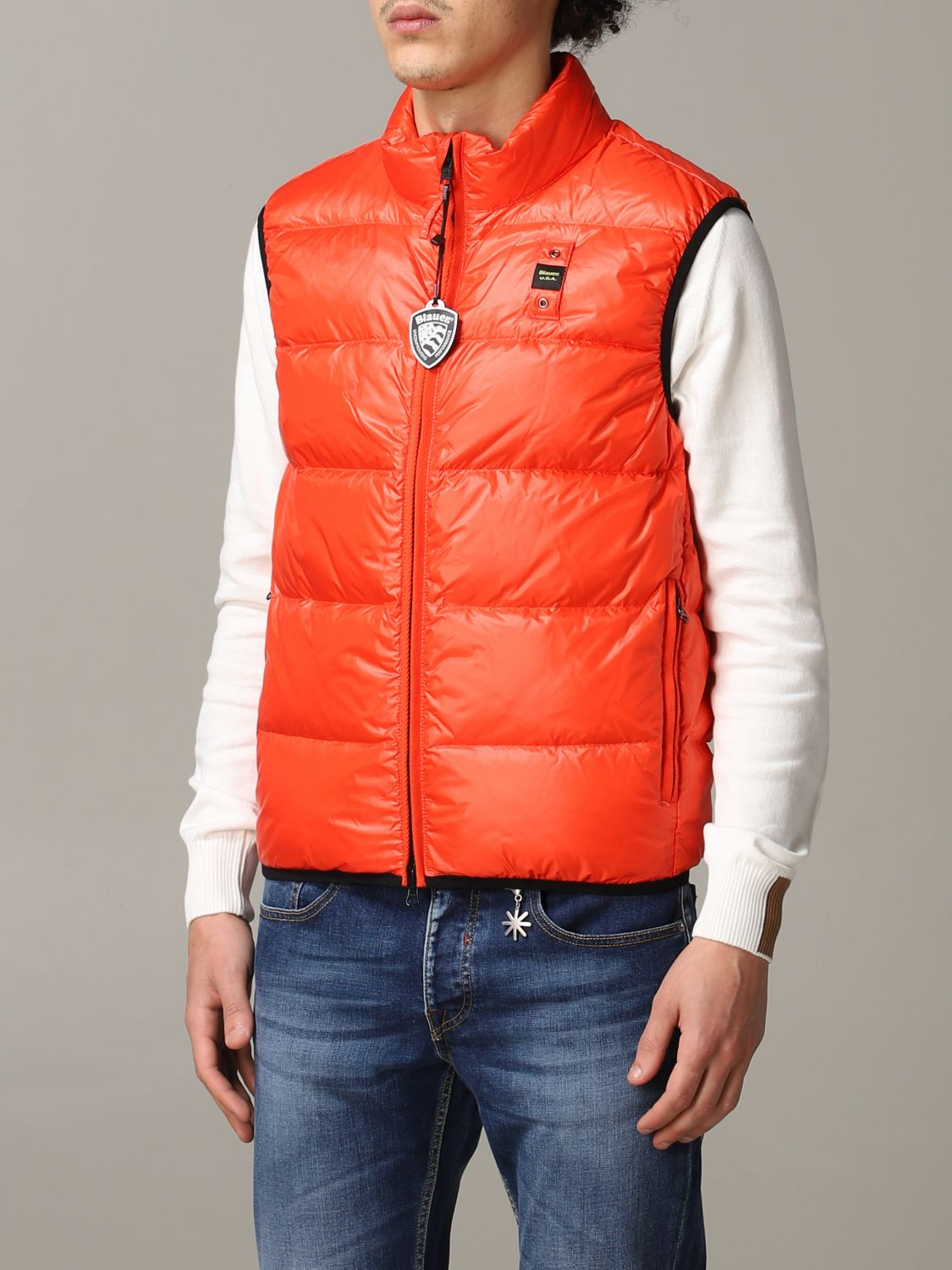Suit vest Blauer: Suit vest men Blauer orange 4