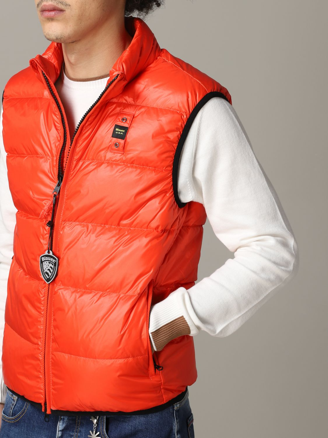 Suit vest Blauer: Suit vest men Blauer orange 5