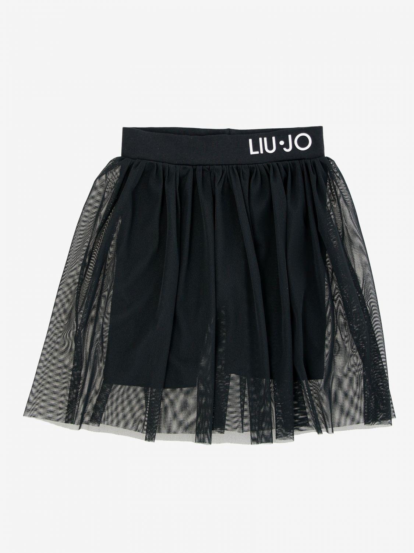 Liu Jo skirt in tulle with logo black 1
