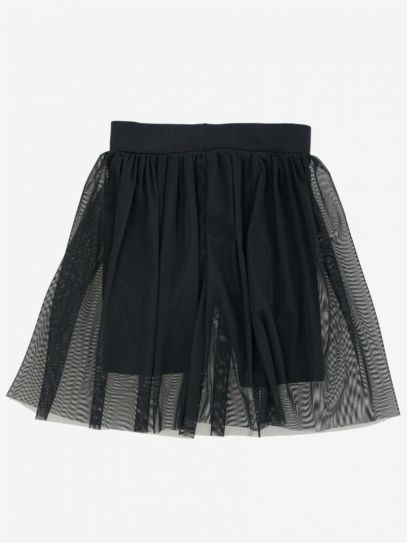 Liu Jo skirt in tulle with logo black 2
