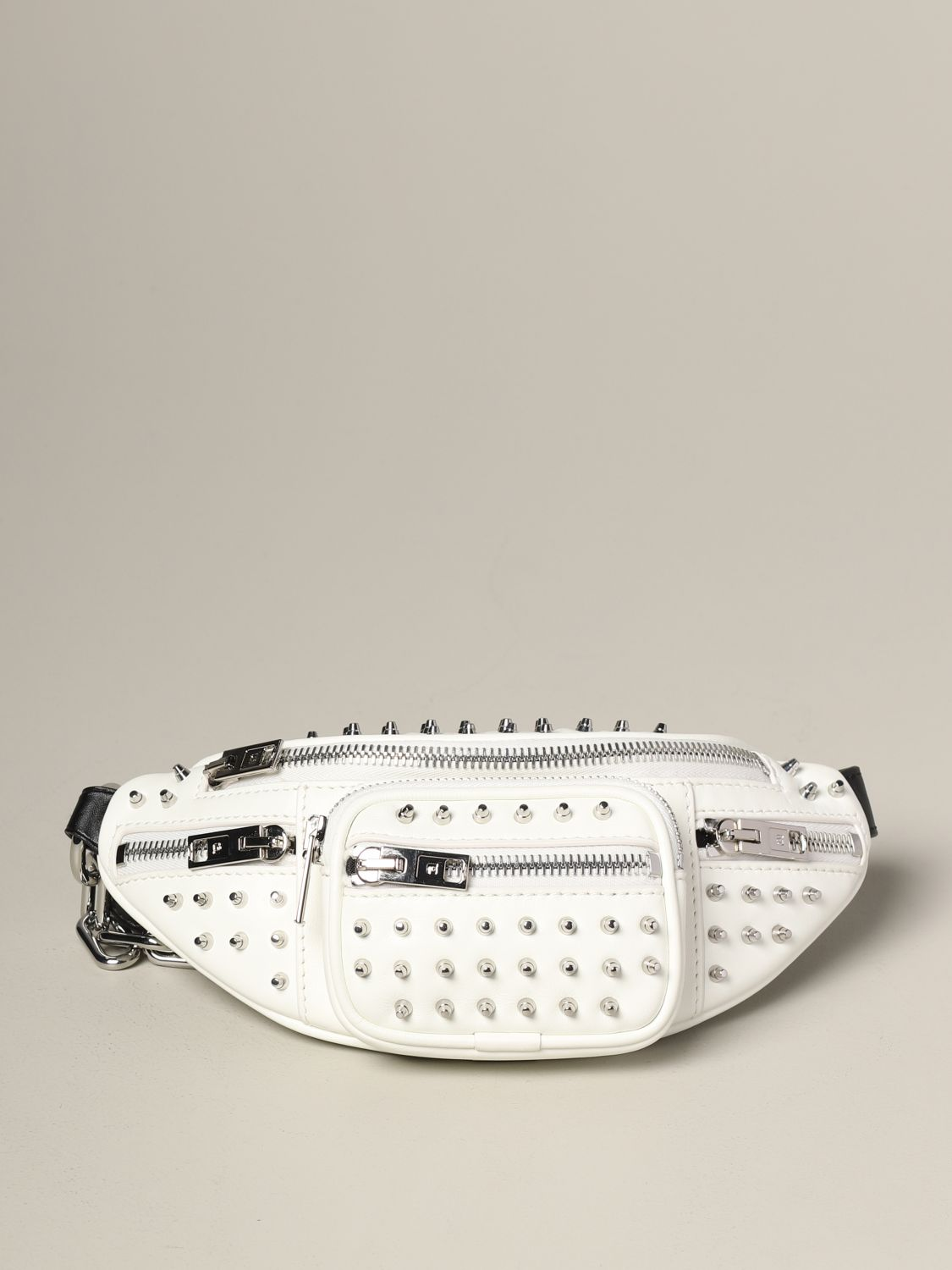 Alexander Wang leather belt bag with studs white 1