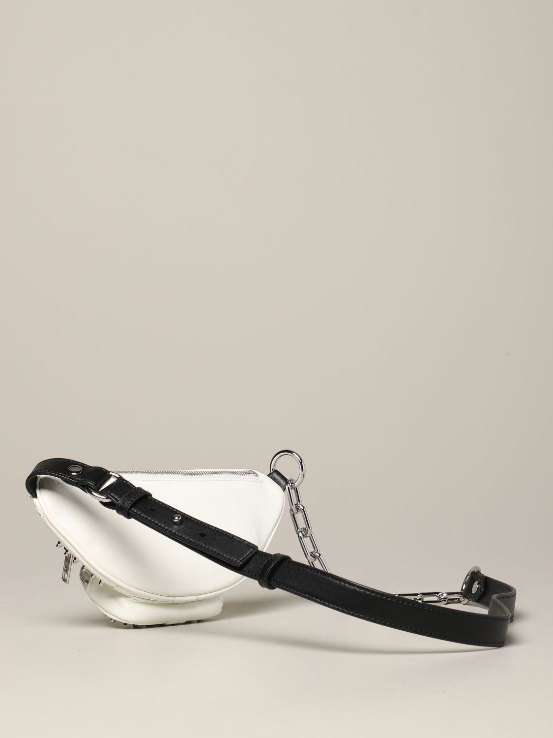 Alexander Wang leather belt bag with studs white 3