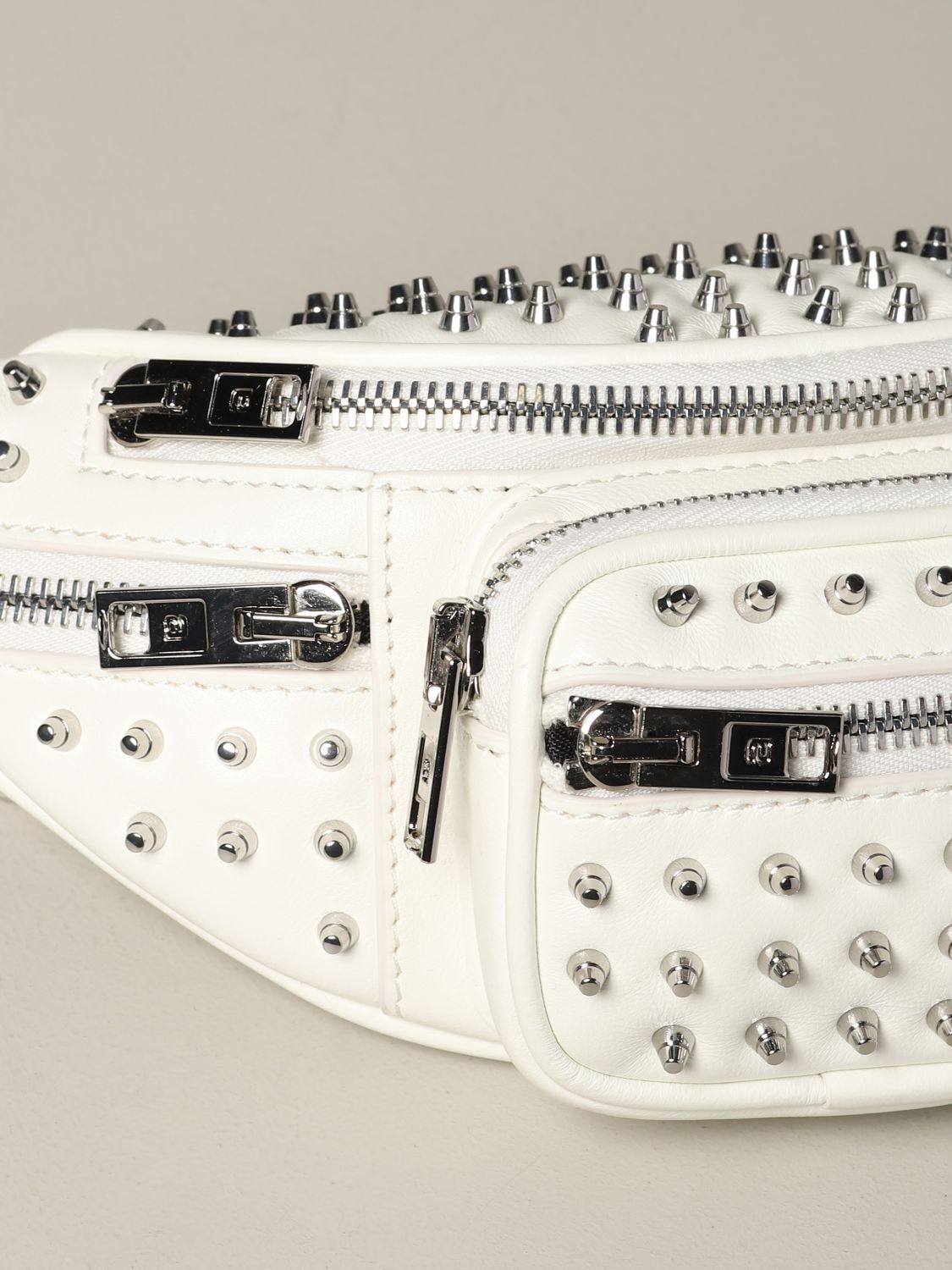 Alexander Wang leather belt bag with studs white 4