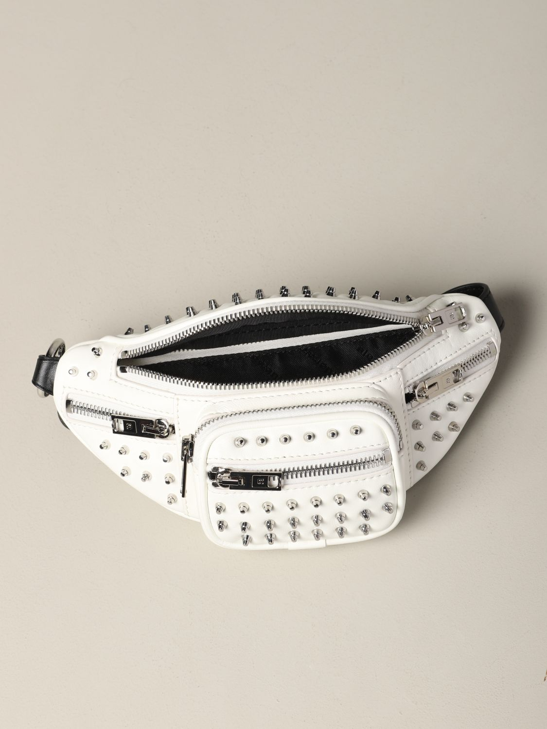 Alexander Wang leather belt bag with studs white 5