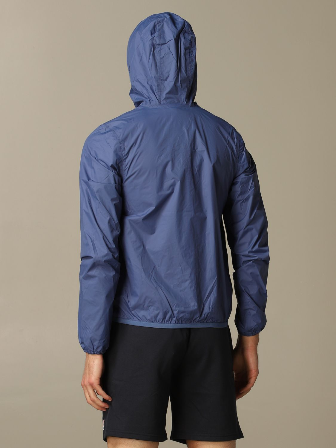 Coat K-Way: Coat men K-way blue 2