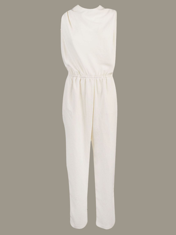 Pinko long sleeveless jumpsuit white 1