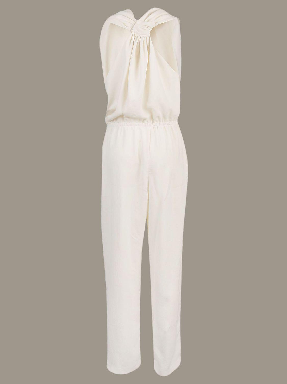 Pinko long sleeveless jumpsuit white 2