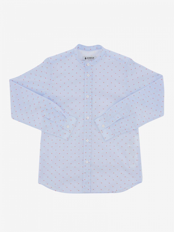 Camicia Dondup: Camicia Dondup con collo alla coreana azzurro 1