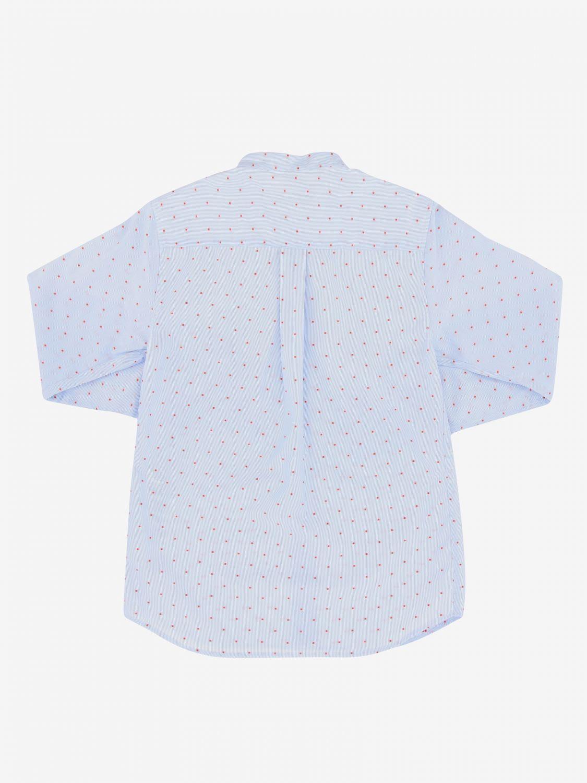 Camicia Dondup: Camicia Dondup con collo alla coreana azzurro 2