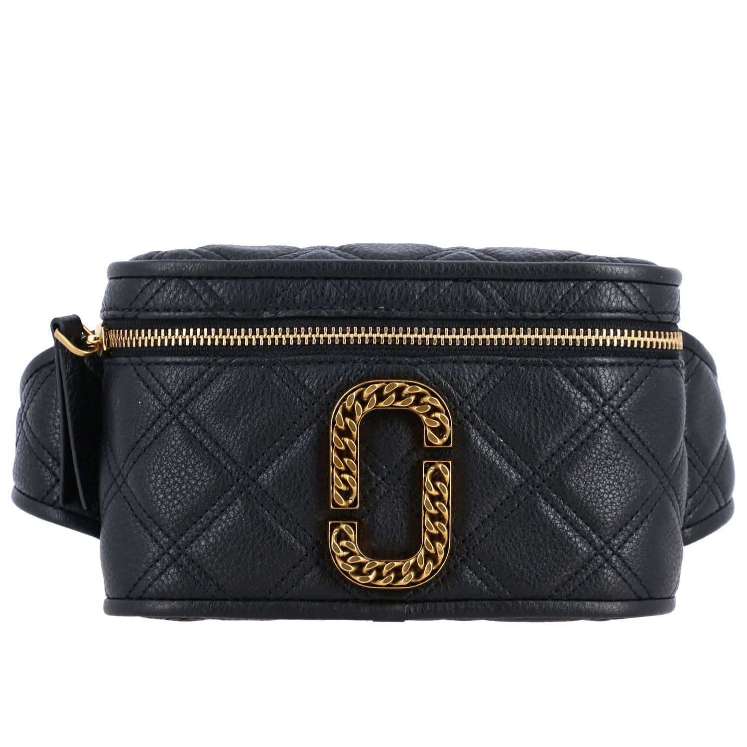 Marc Jacobs belt bag in quilted leather with paperclip black 1