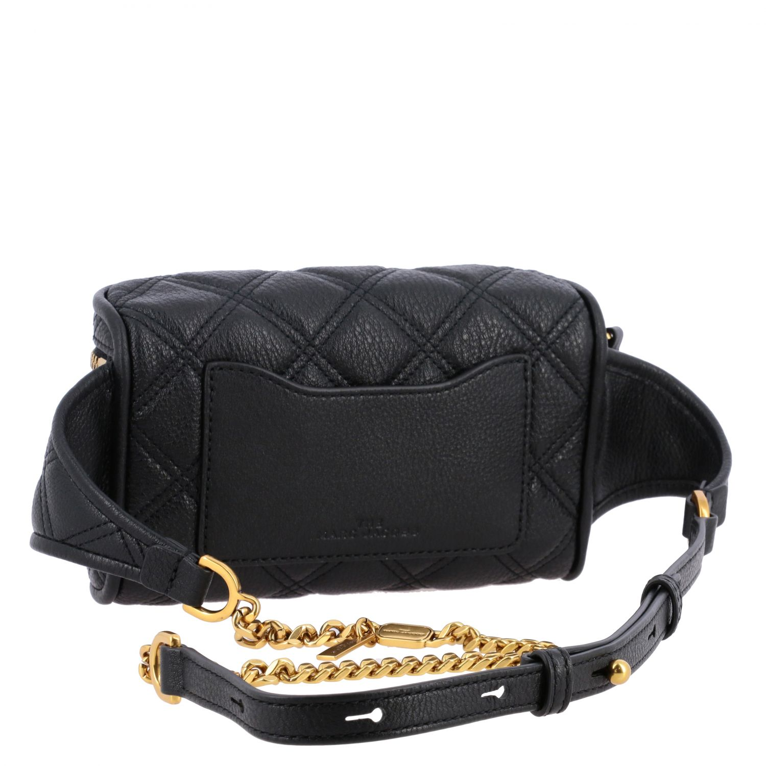 Marc Jacobs belt bag in quilted leather with paperclip black 3