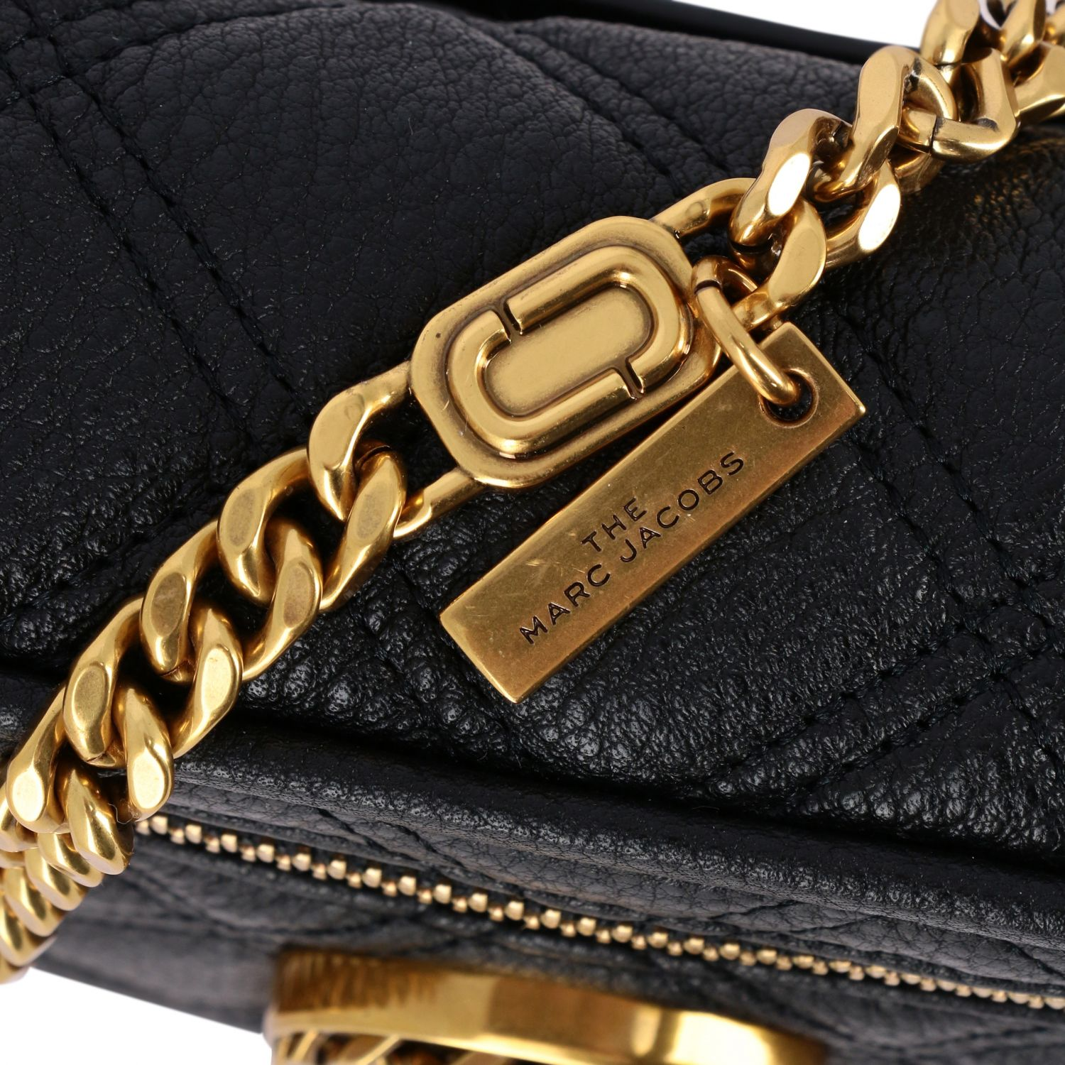 Marc Jacobs belt bag in quilted leather with paperclip black 4