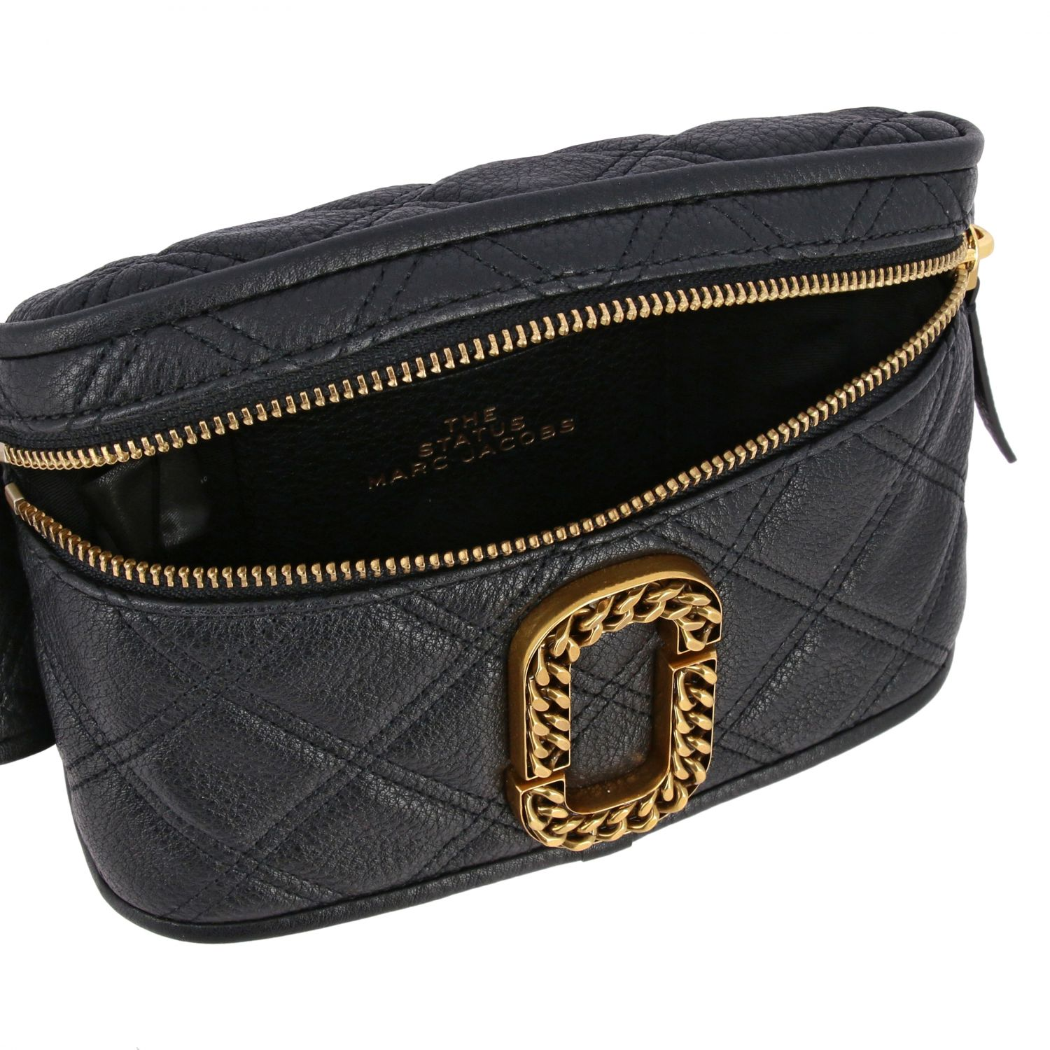 Marc Jacobs belt bag in quilted leather with paperclip black 5