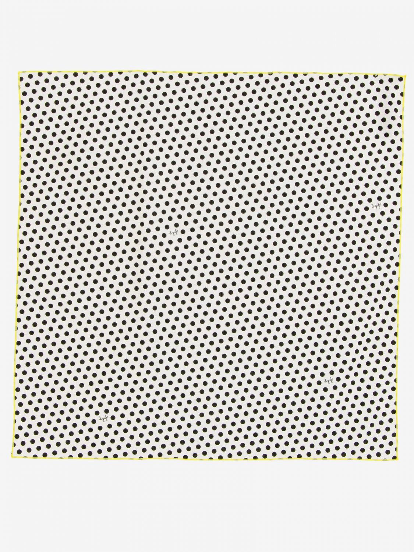 Neck scarf Il Gufo: Il Gufo polka dot scarf black 1