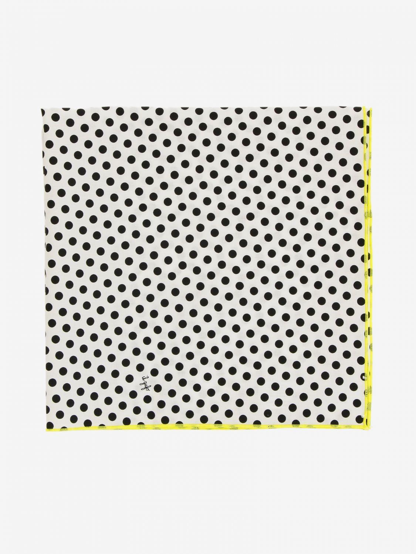 Neck scarf Il Gufo: Il Gufo polka dot scarf black 2