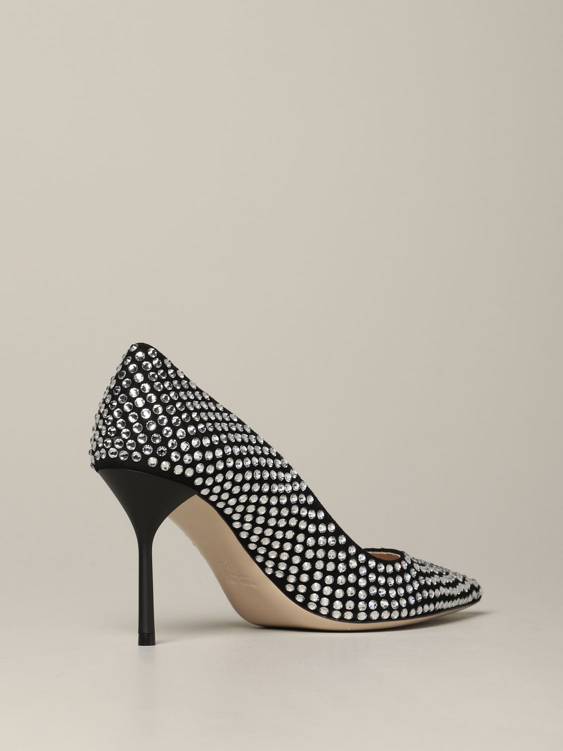 Miu Miu pumps with all-over rhinestones black 5
