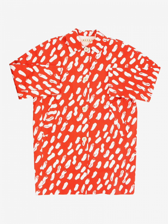 Manteau imprimé Marni orange 1