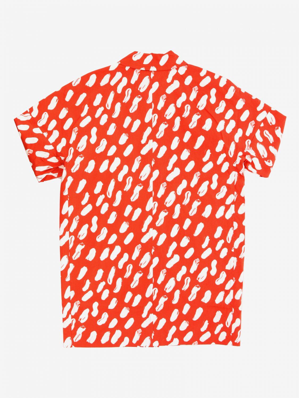 Manteau imprimé Marni orange 2