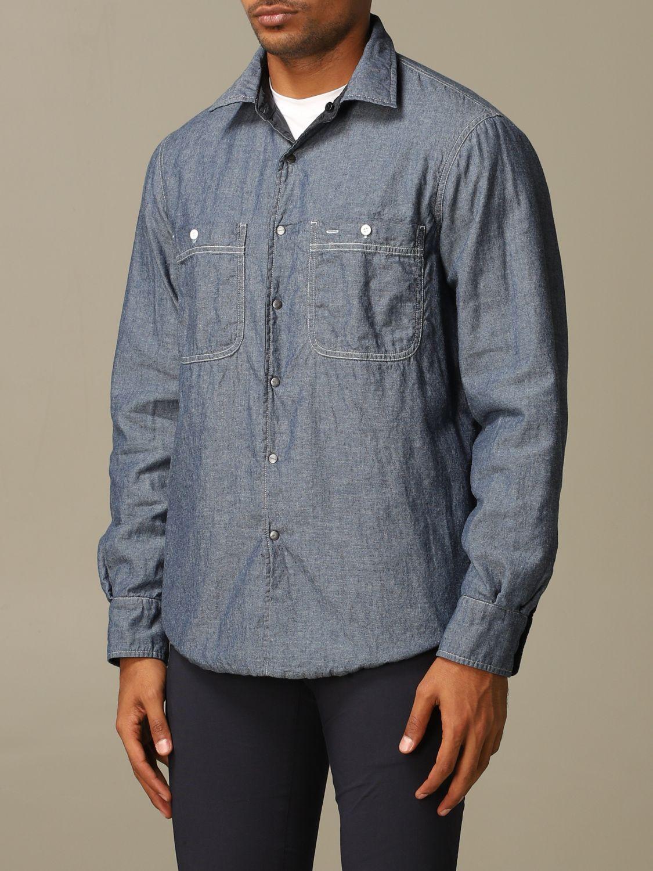 Рубашка Aspesi: Рубашка Мужское Aspesi темно-синий 3